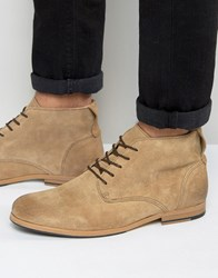 Shoe The Bear Oliver Suede Lace Up Boots Beige