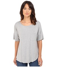 Culture Phit Atiyana Short Sleeve Top Heather Grey Women's Clothing Gray