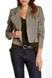 Michael Stars Zip Up Moto Jacket Gray