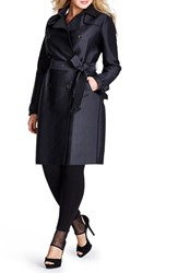 Plus Size Women's Mynt 1792 Double Breasted Trench Coat