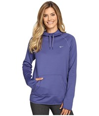 Nike All Time Pullover Hoodie Dark Purple Dust Green Glow Green Glow Women's Long Sleeve Pullover Blue