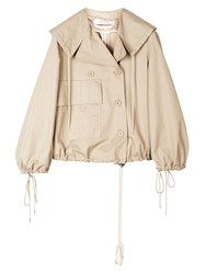 See By Chloe Cropped Cotton Jacket Neutral