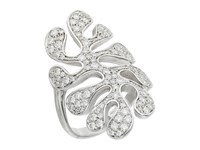 Miseno Sea Leaf Pave Diamond Ring White Gold Ring