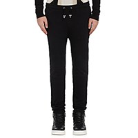 Balmain Men's French Terry Jogger Pants Black Blue Black Blue