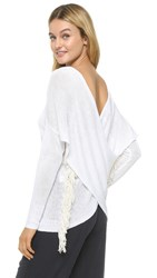 Derek Lam Cross Front Sweater Soft White