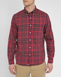 Denim And Supply Ralph Lauren Red Check Washed Oxford Shirt