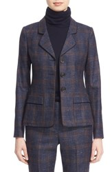 Nordstrom Caroline Issa Women's And Wool Silk And Linen Plaid Jacket