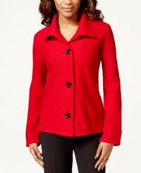 Kasper 3 Button Wool Blazer Fire Red