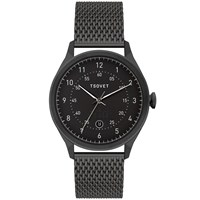 Tsovet Svt Rm40 Black And Black Mesh Strap Watch Silver