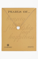 Dogeared Boxed Freshwater Pearl Necklace Pearl Gold