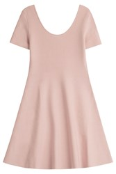 Theory Jersey Dress With Flared Skirt Rose