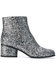 Marc Jacobs 'Camilla' Glitter Ankle Boots Metallic
