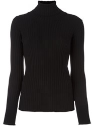 Moncler Ribbed Roll Neck Top Black