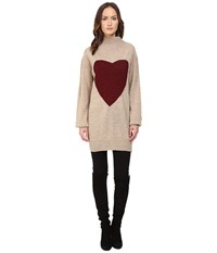 Vivienne Westwood Heart Frost Jumper Natural Red Women's Sweater Multi