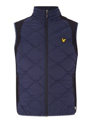Lyle And Scott Golf Irvine Quilted Gilet Navy