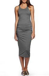 Women's Michael Stars Ruched Side Racerback Midi Dress Oxide