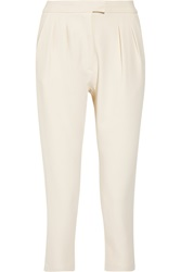 Studio Nicholson Cropped Crepe Tapered Pants White