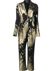 Ungaro Emanuel Embellished Baroque Effect Jumpsuit Metallic