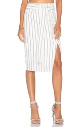 Lucy Paris Pencil Skirt White