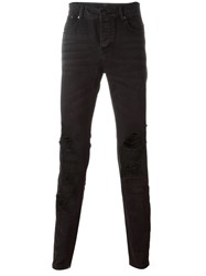 Stampd Ripped Jeans Black