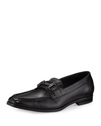 Andrew Marc New York Leather Bit Strap Loafer Black Women's