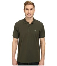 Lacoste L1212 Classic Pique Polo Shirt Baobab Green Men's Short Sleeve Knit
