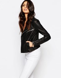 Y.A.S Beat Leather Biker Jacket Black