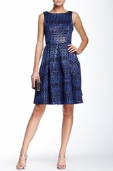 Eva Franco Juno Print Dress Blue