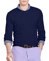Polo Ralph Lauren Cashmere Cable Knit Sweater Bright Navy