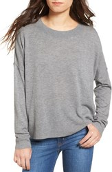 Women's Bp. Drop Shoulder Pullover Sweater Grey Cloudy Heather