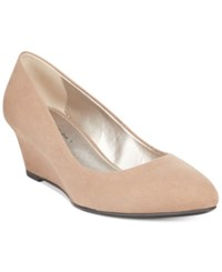 Bandolino Franci Wedge Pumps Taupe Suede