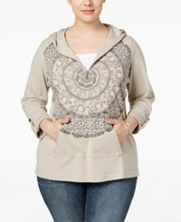 Styleandco. Style Co. Plus Size Printed Half Zip Hoodie Only At Macy's Pure Cashmere