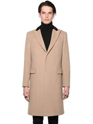 All Apologies Wool Blend Coat With Contrasting Collar