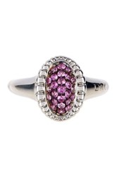 Lagos Muse Sterling Silver Pink Sapphire Small Fluted Ring Size 7 Metallic