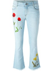 Stella Mccartney Embroidered Flared Jeans Blue