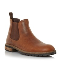 Howick Chariots Natural Sole Chelsea Boots Tan