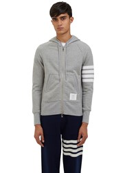 Thom Browne 4 Bar Hooded Sweater Grey