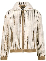 Y Project Paneled Shearling Jacket White