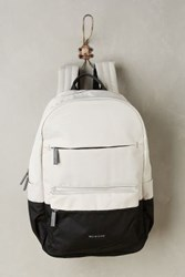 Anthropologie Colorblock Backpack Black And White