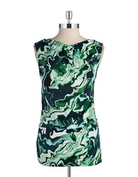 Dkny Ruched Cowlneck Shell Rainforest