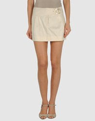 Amy Gee Skirts Mini Skirts Women Ivory
