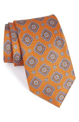 Nordstrom Men's Men's Shop Medallion Silk Tie Orange