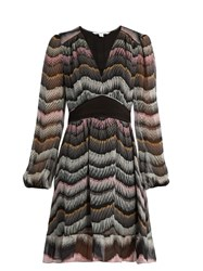 Diane Von Furstenberg Lizbeth Dress Grey Multi