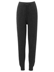 Whistles Cashmere Tweed Jogger Dark Grey