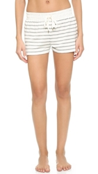 Splendid Lace Trimmed Shorts Luxe Stripe