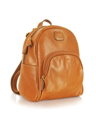 Bric's Life Leather Genuine Leather Backpack Brown