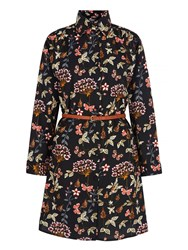 Mela Loves London Garden Print Shirt Dress Black