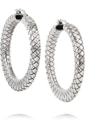 Oxidized Sterling Silver Hoop Earrings Bottega Veneta