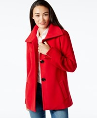 Jm Collection Petite Plush Wing Collar Coat Only At Macy's New Red Amore