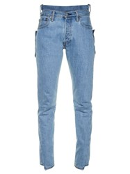 Vetements Reworked High Rise Skinny Jeans Light Blue